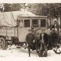 Pritschenwagen der Webermühle um 1925.